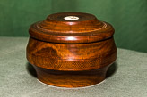 Lidded box in Lignum Vitae - turned by Roy and finished by TBA.