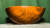 Large well figured bowl in Cherry.