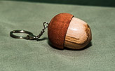 Acorn in contrasting Mahogany and Beech.