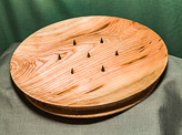 Carving plate in Ash - includes spikes in African Blackwood.
