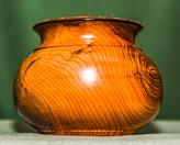 Roy demo'd turning this pot in dark Yew.