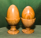 Pair of egg and egg cup forms in Ash.