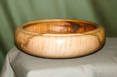 Bowl in rippled Sycamore