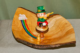 Natural edged bowl with a Leprechaun.