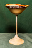 Allen demo'd turning this natural edged goblet.