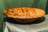 Dish in Brown Oak - approx 10in diam.