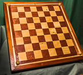 Chess set in box - using Sepele and Boxwood.