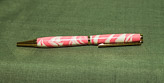 First the polyester was cast - and then turned to created this pen.