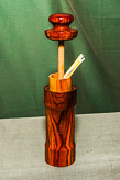 Toothpick holder in Cocobola.