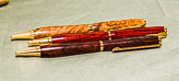 Set of five pens - two in Gorse - three not identified...