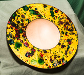 Marbled dish in Sycamore.