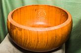 Bowl in Oak - approx 13-1/2 in diam.