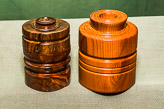 Lidded boxes in Walnut and Yew.