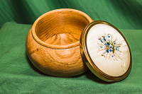 Lidded Box with decorated lid.