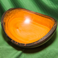 Natural Edged bowl in Cherry - oiled and waxed.