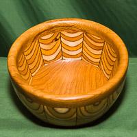 Segmented bowl in oak and birch ply.