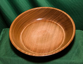 Shallow dish in Mahogany - (c.10 in diam)