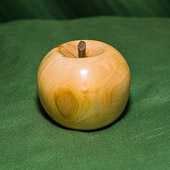 Allen demo'd turning and finishing this apple.