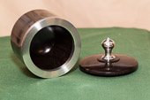 Indian Rosewood (Sonokeling) with pewter ring and finial