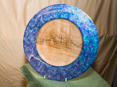 Sycamore Platter coloured with Jo Sonja's 'Iridescent colour'.