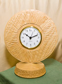 Clock in Ash with textured finish.
