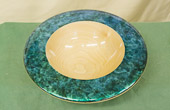 Platter in Maple coloured with Jo Sonja's 'Iridescent colour'.