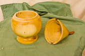 Pear shaped lidded box in Yew