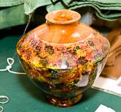 Colourful vase