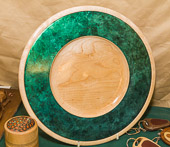 Platter coloured with Jo Sonja's 'Iridescent colour'.